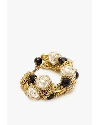 Nicole Romano - Metallic Hand Woven Bead Cluster Bracelet - Lyst