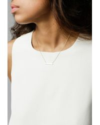 Loren Stewart - Metallic Baby Bar Necklace - Lyst