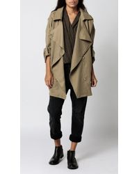 Azalea | Natural Uptown Drape Collar Jacket | Lyst
