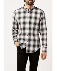 Naked & Famous - Gray Regular Shirt for Men - Lyst