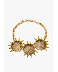 Nicole Romano - Metallic Triple Hammered Triangle Medallion Necklace - Lyst