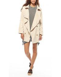 Azalea - Natural Uptown Drape Collar Jacket - Lyst