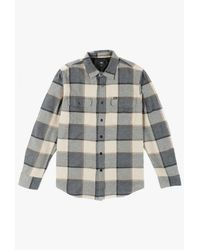 Obey - Blue Belmont L/s Shirt for Men - Lyst