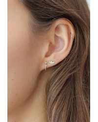 Lumo - Metallic Diamond Cluster Stud Earrings - Lyst