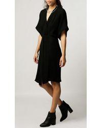 Alasdair - Black Twist Front Dress - Lyst