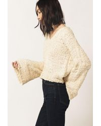 Azalea | Natural V-neck Knit Sweater | Lyst