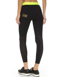 Monreal London | Black Cropped Booster Leggings | Lyst