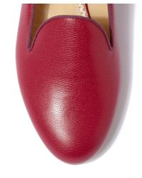 Charlotte Olympia | Red Fuchsia Abc Customisable Leather Slipper Pumps | Lyst
