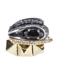 Iosselliani - Metallic Set Of Rings - Lyst