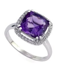 Effy | Purple 14kt White Gold Amethyst Diamond Ring | Lyst