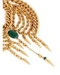 Ela Stone | Metallic Anouk Stone Multi Chain Plastron Necklace | Lyst