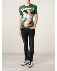 Dolce & Gabbana | Green Playboy-Print T-Shirt for Men | Lyst