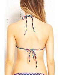 Forever 21 - Multicolor Zig Zag Triangle Bikini Top - Lyst