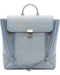 3.1 Phillip Lim - Blue Periwinkle And Cream Pashli Backpack - Lyst