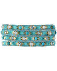 Chan Luu | Blue 32 Turquoise Mixbeige Seed Bead Wrap Bracelet | Lyst