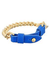 Marc By Marc Jacobs - Blue Bmx Leather Bracelet - Lyst