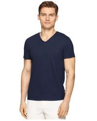 Calvin Klein - Blue V-neck Slim-fit T-shirt for Men - Lyst