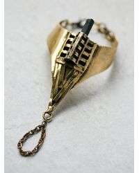 Free People - Metallic Caged Crystal Handpiece - Lyst