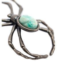 Lanvin - Gray Spider Brooch - Lyst