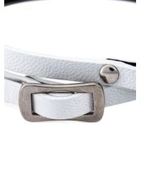 McQ | White Razor Blade Double Wrap Bracelet | Lyst