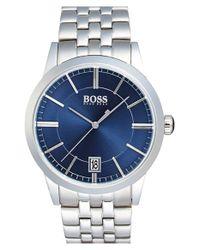 BOSS | Blue Sunray Dial Bracelet Watch for Men | Lyst