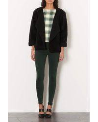 TOPSHOP | Green Textured Check Tee | Lyst