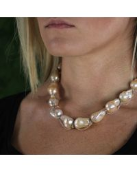 Jordan Alexander - Metallic Beige Baroque Pearl Necklace - Lyst