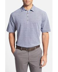 Cutter & Buck | Gray 'gabriel Stripe' Classic Fit Pique Polo for Men | Lyst