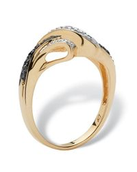 Palmbeach Jewelry - Round Black And White Diamond Accent 10k Gold Classic Ring - Lyst
