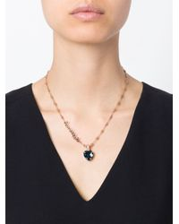 Mawi | Blue 'sapphire Slogan' Necklace | Lyst
