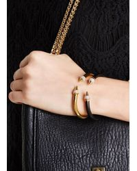Vita Fede - Metallic Mini Titan Gold-plated Twin Spike Bracelet - Lyst