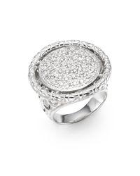 John Hardy | Metallic Naga Diamond 0.65 Pavé Tcw Diamond & Sterling Silver Round Ring | Lyst