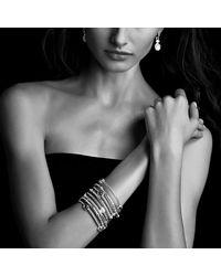 David Yurman | Metallic Cable Classics Three-Station Bangle Bracelet With Diamonds | Lyst