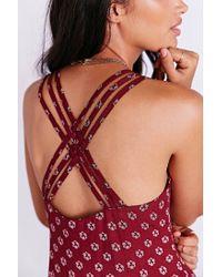 Kimchi Blue - Red Ryn Crossback Dress - Lyst