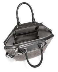 Alexander Wang Gray Prisma Emile Embossed Leather Tote