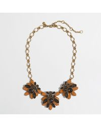 J.Crew | Brown Factory Stacked Crystals Necklace | Lyst