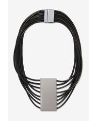Nasty Gal - Black All Roped In Necklace - Lyst