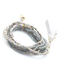 Nakamol | Multicolor Lore Wrap Bracelet-grey | Lyst