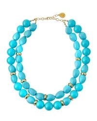 Devon Leigh | Blue Shell Pearl Double-Strand Necklace | Lyst