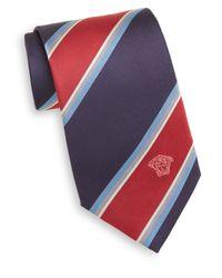Versace   Blue Wide Stripe Silk Tie for Men   Lyst
