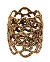 Oscar de la Renta | Metallic Lace Cuff Bracelet | Lyst