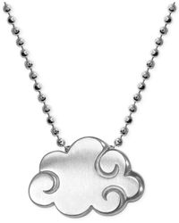 Alex Woo - Metallic Little Cities By Cloud Pendant Necklace In Sterling Silver - Lyst