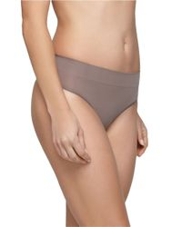 Yummie By Heather Thomson | Gray Megan Ultra-light Seamless Thong | Lyst