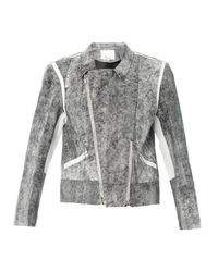 3.1 Phillip Lim - Black Cracked-leather Jacket - Lyst