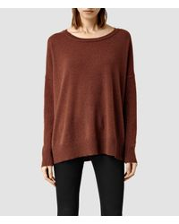 AllSaints | Orange Char Cashmere Jumper | Lyst