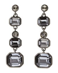 Givenchy - Hematite-Tone & Blue Statement Linear Earrings - Lyst