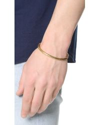 Caputo & Co. - Metallic Brass Braided Cuff for Men - Lyst