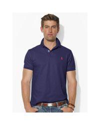 Polo Ralph Lauren - Blue Custom-fit Mesh Polo Shirt for Men - Lyst
