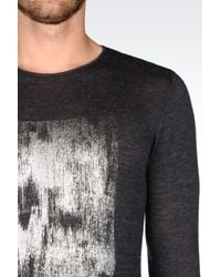 Emporio Armani - Gray Jumper In Virgin Wool for Men - Lyst