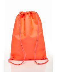 Forever 21 Orange Classic Drawstring Backpack for men